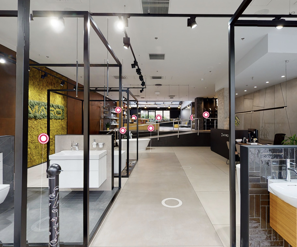 3D prohlídka showroom Maro Karlín